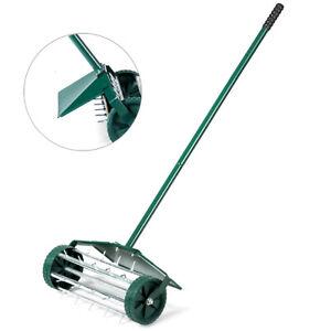 18-inch-Rolling-Lawn-Aerator-Rotary-Push-Tine-Spike-Soil-Aeration-W-Fender