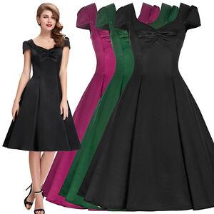 damen petticoat swing kleid 50er 60er 40er vintage karneval party abendkleider ebay. Black Bedroom Furniture Sets. Home Design Ideas