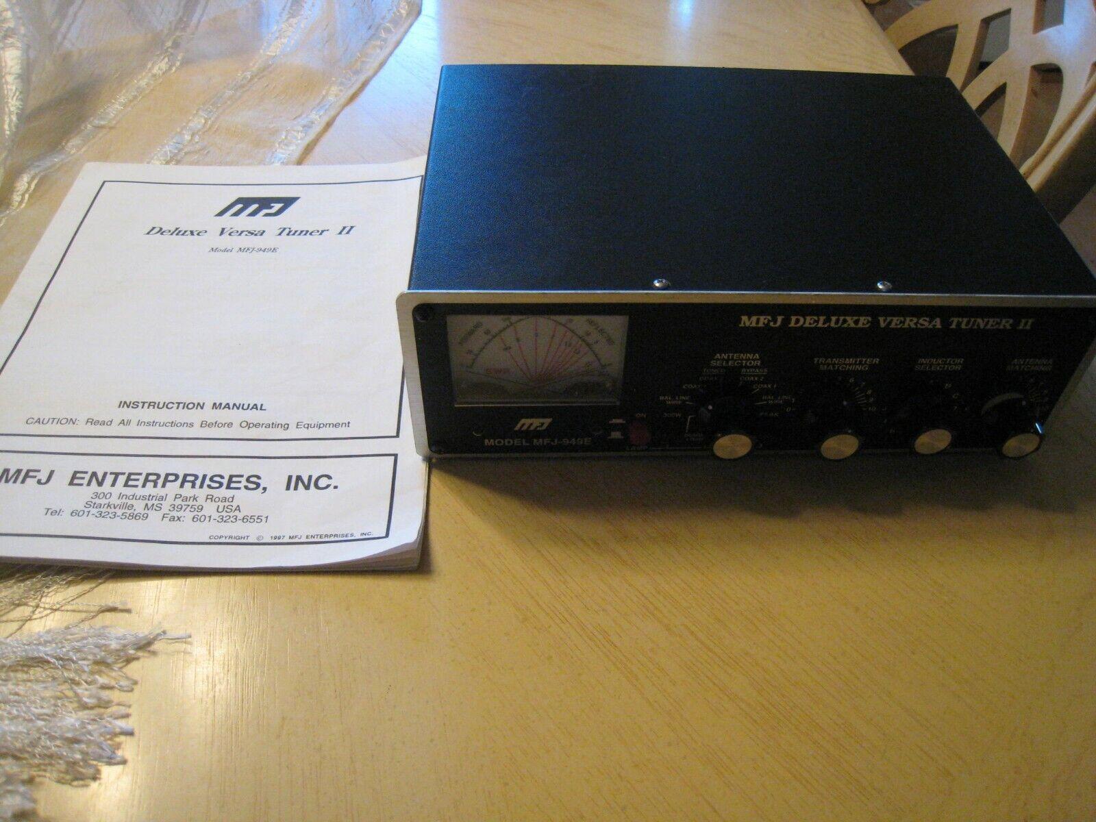 eagledeanbers MFJ-949E Deluxe Versa Tuner II, 300W, Dummy Load, Cross Meter Power/SWR, 10-160M
