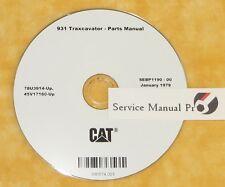 Sebp1190 Cat 931 Traxcavator Track Loader Parts Manual Book Cd 78u 45v