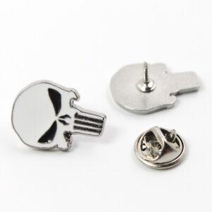 Punisher-Badge-Ghost-Skull-Head-Metallic-Shirts-Enamel-Brooch-Pins-Bottle-Opener