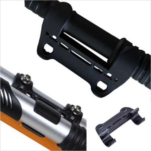 1PC Black Mini Bike Bicycle Pump Holder Portable Pump Retaining Clips Brack TLEA