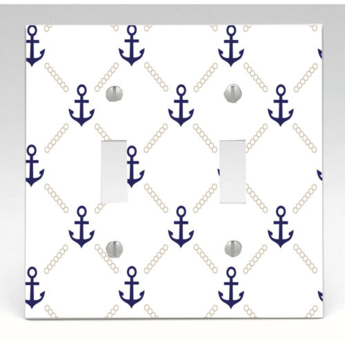 Night Light Bathroom Decor Cabinet Knob Anchor Pattern Light Switch Cover