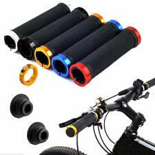 Universal MTB Fahrrad Motorrad Lenkergriffe Stoßfet Alulegierung Gummi Griffe