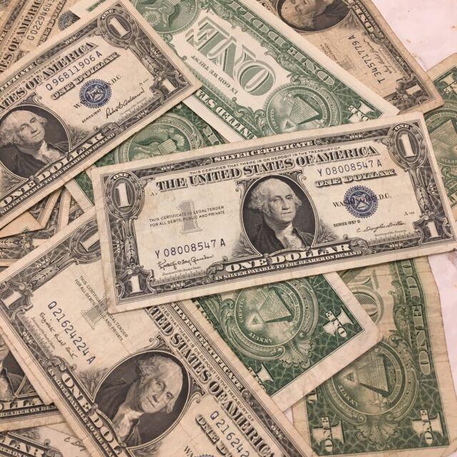 1923-1957 One Dollar Note $1 Silver Certificate VG+ Bill