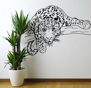 Large Leopard In Tree Lounge Wall Sticker Bedroom Wall Art Sticker