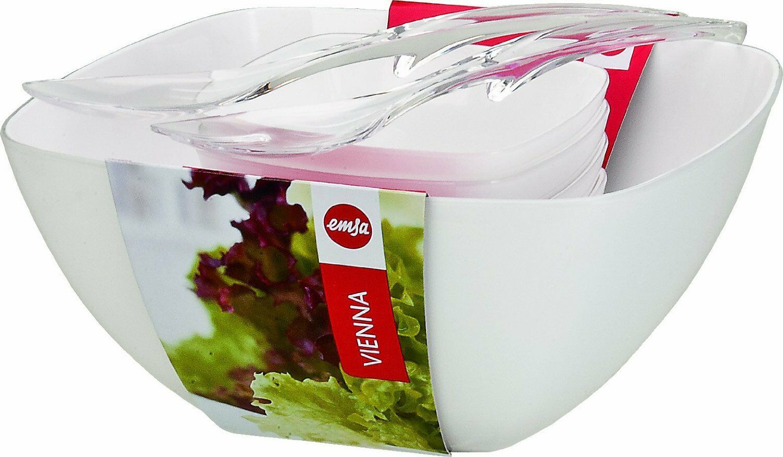 Emsa Vienna Salatschale Salatset Servierschale Salat-Set 6-teilig, white Schale
