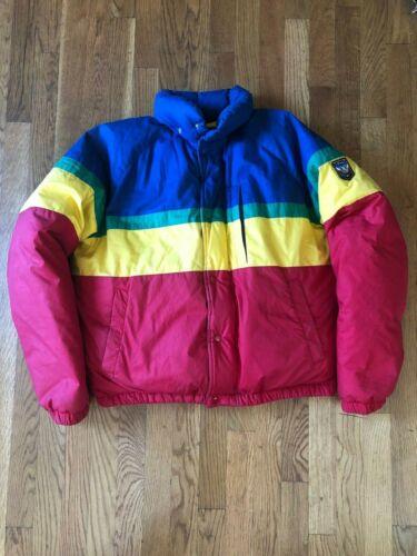VTG 80s 90s Ralph Lauren Polo Colorblock Unicrest… - image 1