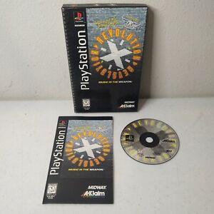 Sony PLAYSTATION 1 PS1 REVOLUTION X LONG BOX + Manual AEROSMITH *TESTED WORKS*