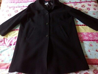 M&S ladies black wool mix coat size 20