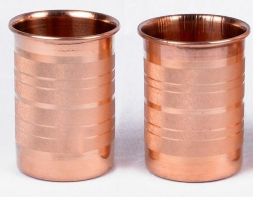 100% Copper 300 ml Drinking Glass Cup Tumbler Mug Ayurveda Great Health Yoga'