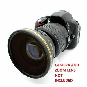 Wide Angle+ Macro Lens For Canon Eos Digital Rebel 1000D 20D 40D T3 for 18-55 HD