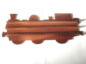 75pc-Train-Wooden-Thimble-Display-Rack-Mahogany-huge-range-see-list