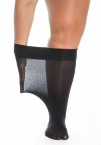 Extra-Wide Top Anklets Plus Size 40 Denier Socks Large Stretch Swollen Ankles