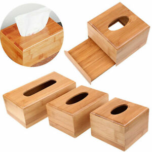 Natural-Bamboo-Tissue-Box-Case-Holder-Cover-Home-Office-Storage-Container-S-M-L
