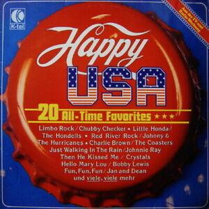 Happy-America-20-All-Time-Favorites-Hondells-Coasters-12-034-LP-K-tel-1979