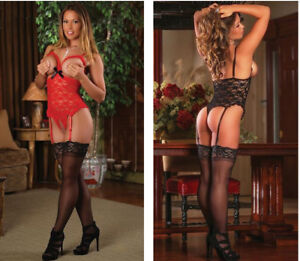 c7c32ba983 Image is loading Sexy-Lingerie-Open-Bust-Teddy-Babydoll-Black-Valentines-