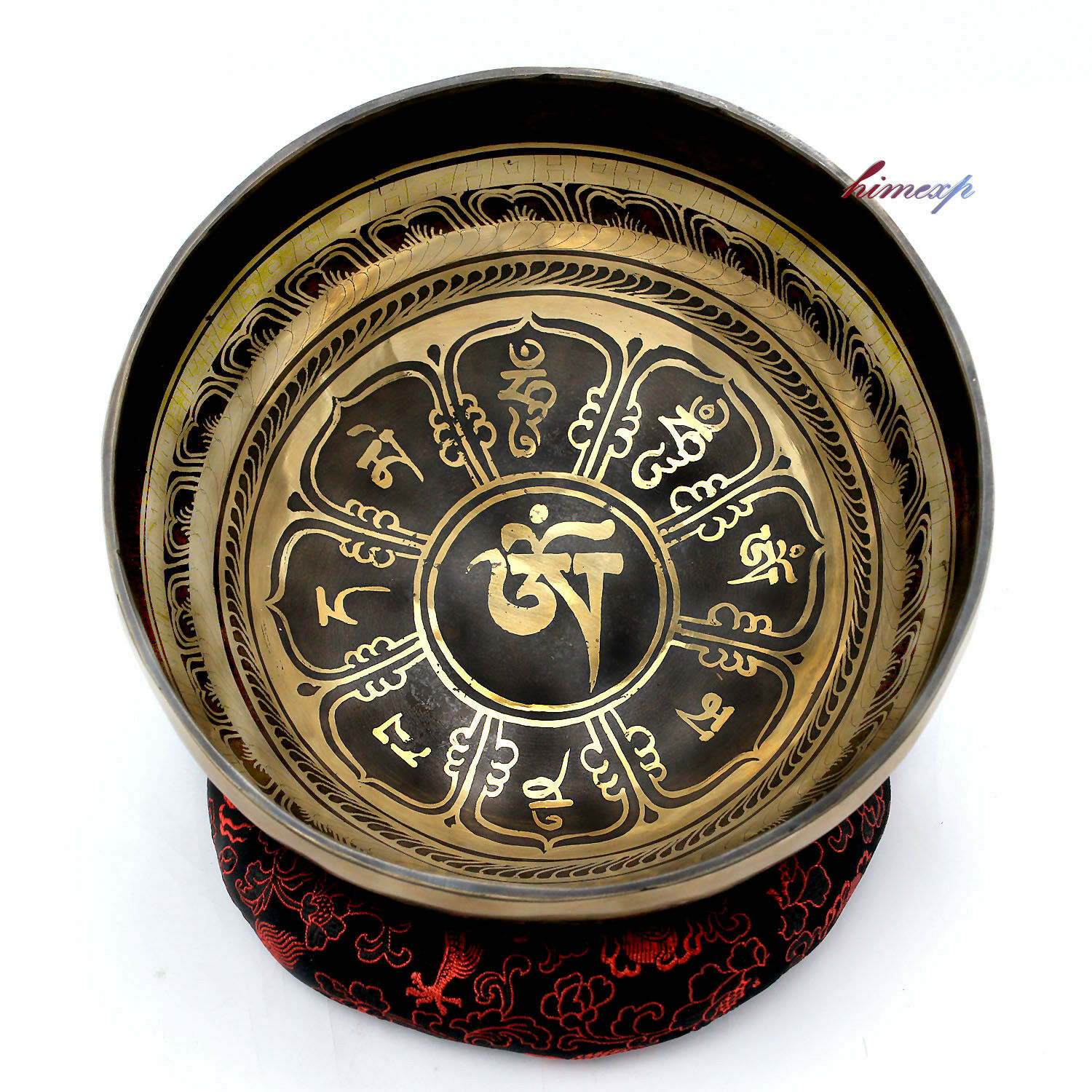 21 cm ,Mantra and Lotus Carving Singing Bowl for Meditation and Healing