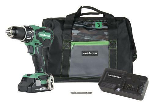 "Hitachi 1//2/"" 18V Brushless Cordless Hammer Drill DV18DBFL2 w Battery Charger Bag"