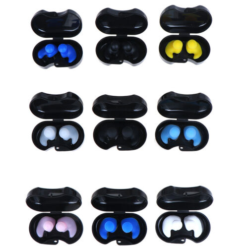 1 Pair Soft Silicone Ear Plugs Reusable Noise Reduction For Sl piTE DR