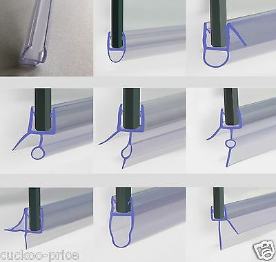 Curved/Flat Bath Shower Screen Rubber Plastic Seal Fits 4,5,6,7,8,9,10mm Glass