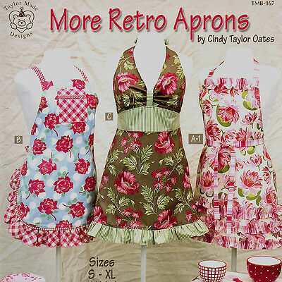 MORE RETRO APRONS Vintage Sewing Gift NEW PATTERN BOOK Small Medium Large XLarge