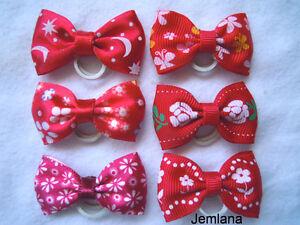 Jemlana-039-s-handmade-dog-cat-pet-grooming-bows-set-of-6-bows