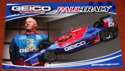 2009 Paul Tracy Geico Honda Dallara Indy 500 Indy Car postcard