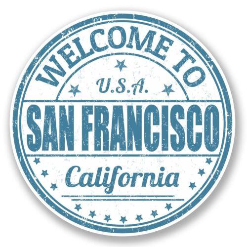 2 x San Francisco Vinyl Sticker Laptop Travel Luggage Car #5739