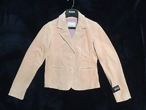 NWT-Wilsons-Leather-MAXIMA-Dusty-Rose-Pink-Soft-Suede-Jacket-Size-Med-Petite