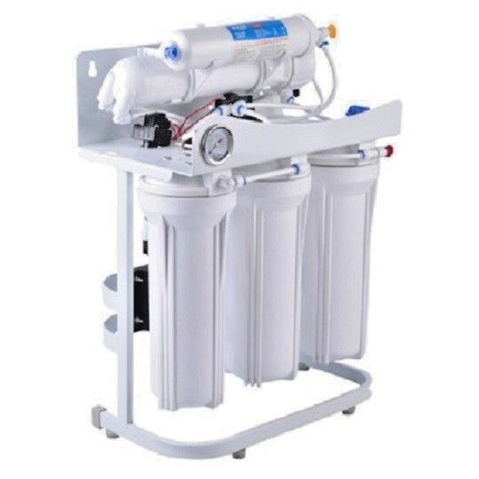 RO Light Commercial Reverse Osmosis Water Filter System 400 GPD Booster Pump