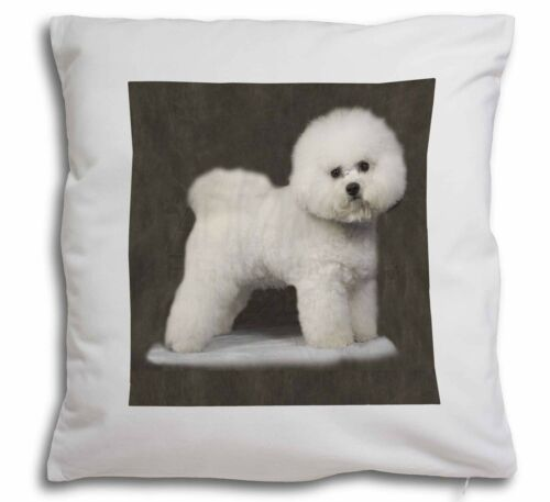 Bichon Frise Soft Velvet Feel Cushion Cover With Inner Pillow AD-BF5-CPW