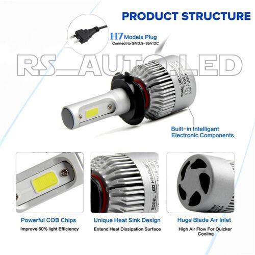 2x Bulbs H7 LED Headlights High Beam 72W 6500K White BMW Serie 3 F30 F31 11-17