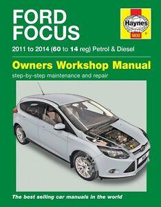 haynes manual 5632 ford focus 1 0 ecoboost 1 6 petrol 1 6 tdi rh ebay co uk Manual Ford Focus RS Ford Focus Interior Manual