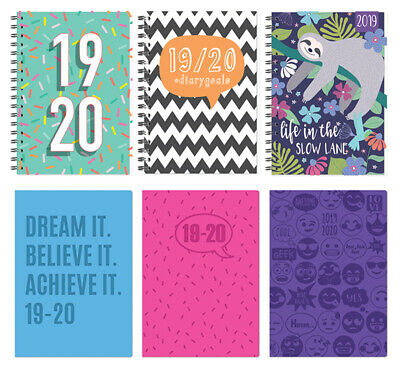 A5 Blue Week to View 2019-20 Academic Diary New Back to School Hardback