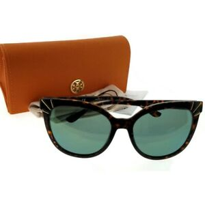 36a755acf10c Tory Burch TY9051-13786R-56 Cat Eye Women's Tortoise Frame Green ...