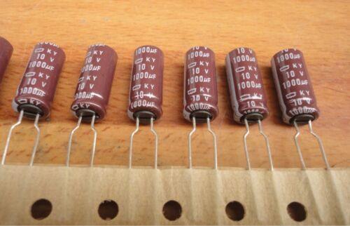 10pcs 1000uF 10V 8x20mm NCC KY 10V1000uF Low ESR Long Life Capacitor