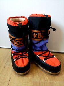 Détails sur Après ski MOON BOOTS vintage ski années 80 déguisement style neige confortable