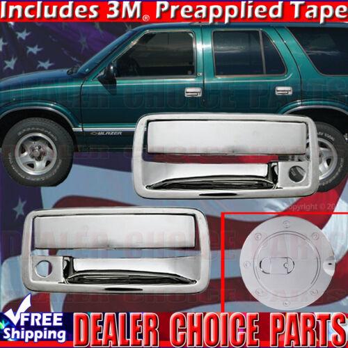 1994-2003 CHEVY S10 Chrome Door Handle COVERS 2Dr W//PSK+Gas Door COVER
