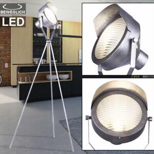 VINTAGE Tisch Leuchte LED Steh Stand Lampe Banker Arbeits Zimmer Beleuchtung