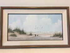 Rex Duggar Savannah Artist Original Acrylic Painting Seascape, Singed, Framed
