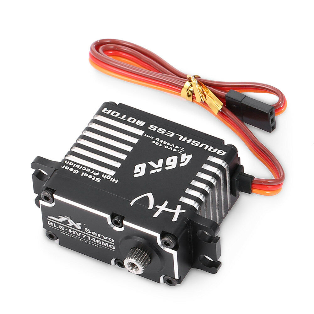 JX BLS-HV7146MG 46KG 180Degrees HV Steel Steering Gear Digital Servo for RC Gift
