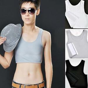 New-Hot-Breathable-Buckle-Short-Chest-Breast-Binder-Trans-Lesbian-Tomboy-3Colors