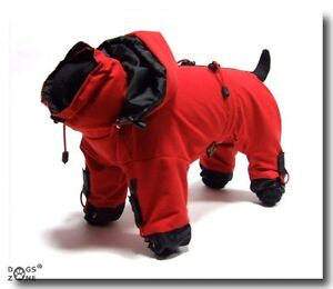 chiens manteau de pluie pour femelles rouge luna pluie manteau chien dogszone ebay. Black Bedroom Furniture Sets. Home Design Ideas