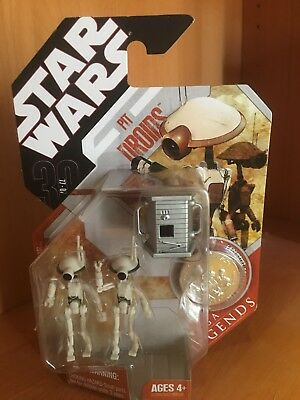 Pit Droids STAR WARS 30th Anniversary Saga Legends VARIANT White Silver Box