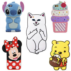HOT-3D-Cute-Cartoon-Soft-Silicone-Phone-Case-Cover-Back-Skin-For-Various-Phone