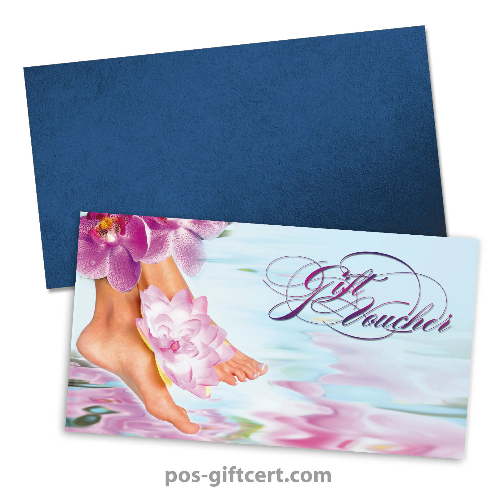 Gift vouchers + envelopes for foot and nail care, pedicure, podiatry FU1204GB