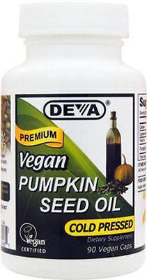 DEVA - Vegan Pumpkin Seed Oil - 90 Vegetarian Capsules