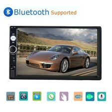 """Car Stereo Radio Bluetooth Audio Receiver Double 2 Din 7/"""" Touch Screen USB AUX"""