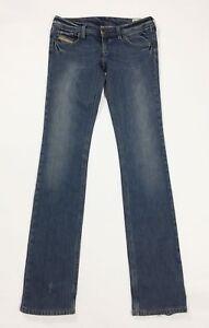 Diesel-lowky-jeans-donna-usato-slim-stretch-W28-tg-42-denim-vita-bassa-T3691